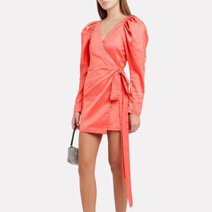 ROTATE Birger Christensen No. 31 Satin Wrap Dress